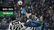 Gol tendangan salto Cristiano Ronaldo ke gawang Juventus masuk ke dalam calon gol peraih FIFA Puskas Award 2018
