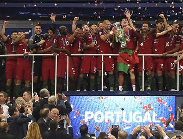 Foto Piala Eropa: Diprediksi Pertahankan Piala, 5 Alasan Skuat Ronaldo Cs Diprediksi Juara Euro 2020