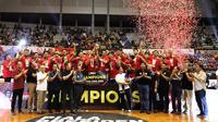 Satria Muda keluar sebagai juara Piala Presiden Basket 2019 usai mengalahkan Amartha Hangtuah (Tim Media Piala Presiden 2019)