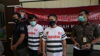 Polda Kepri menetapkan 2 tersangka dalam kasus penyelundupan jenazah 3 ABK Indonesia. (Foto: Liputan6.com/Ajang Nurdin)
