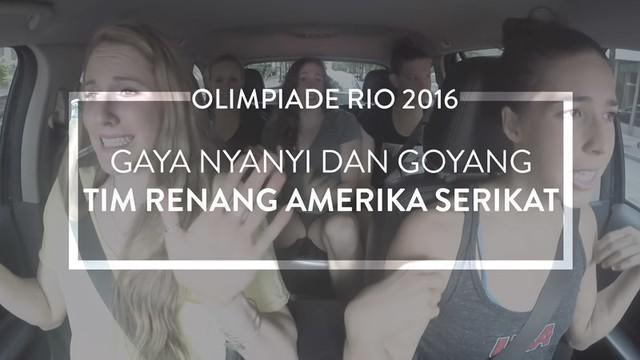 Tim renang Amerika Serikat untuk Olimpiade 2016 melakukan carpool karaoke. Mereka tidak hanya bernyanyi tetapi juga bergoyang dengan keren.