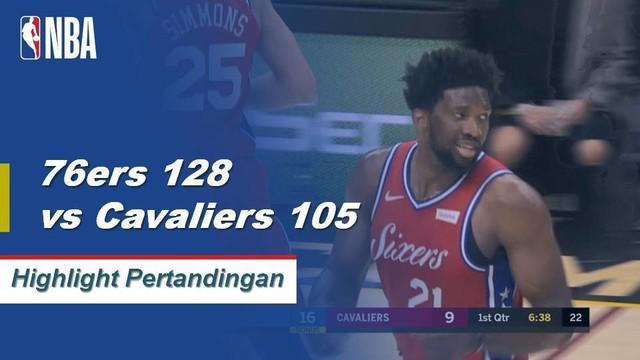 Joel Embiid memimpin 76ers ke kemenangan 128-105; posting 24 poin dan 9 rebound.