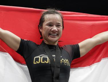 FOTO: ONE Championship, Priscilla Bungkam Petarung Kamboja