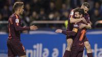 Barcelona menjadi juara La Liga 2017-2018. (AP Photo/Lalo R. Villar)
