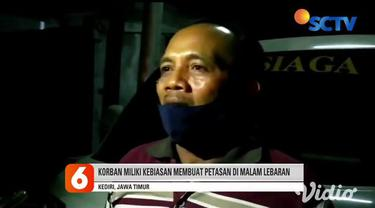 Ledakan petasan menggemparkan warga Desa Tanjung, Kediri, Jawa Timur, pada Rabu malam (12/5). Pemilik bahan petasan Mohamad Hanif ditemukan meninggal dunia dengan kondisi yang mengenaskan dan rumah yang hancur.