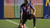 5. Kevin Prince Boateng - Kevin Prince Boateng mengalami hal yang tidak menyenangkan saat bermain bersama Barcelona. Mantan gelandang AC Milan tersebut alami kerampokan ketika berlaga melawan Real Valladolid di kompetisi La Liga. (AFP/Lluis Gene)