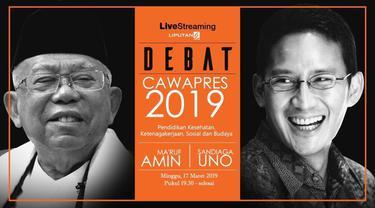 Debat cawapres di Pilpres 2019 antara kandidat nomor urut 01 Ma'ruf Amin dan nomor urut 02 Sandiaga Uno dijadwalkan akan digelar di Hotel Sultan Jakarta pada Minggu, 17 Maret 2019.
