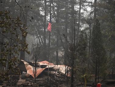 Penampakan Sisa-Sisa Kebakaran Dahsyat di California Amerika Serikat