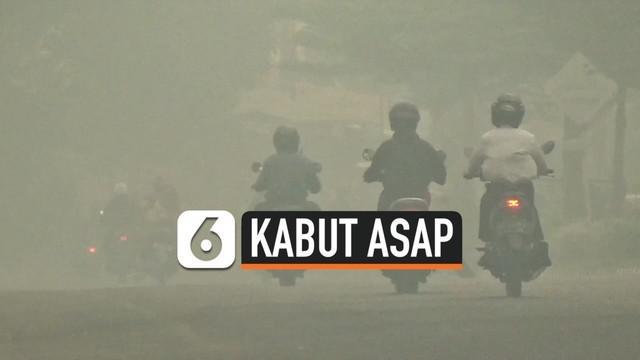 Kabut asap kembali membuat kualitas udara di Kota Jambi kembali memburuk pada Rabu (16/10/2019) pagi.