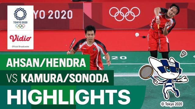 Pasangan ganda putra Indonesia Mohammad Ahsan/Hendra Setiawan sukses mengalahkan pasangan Jepang di Olimpiade Tokyo 2020. Ahsan/Hendra lolos melaju ke semifinal Olimpide Tokyo 2020.