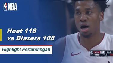 Dwyane Wade berakhir dengan 22 poin dari bangku cadangan dan Hassan Whiteside menambahkan double-double (28 poin, 11 rebound) saat Heat memetik kekalahan beruntun tiga pertandingan.