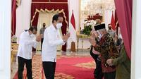 Pertemuan Presiden Jokowi dan Amien Rais di Istana Negara yang membahas soal kasus tewasnya enam laskar FPI di Tol Jakarta-Cikampek, Senin, 7 Desember 2020 (Foto: Istimewa)