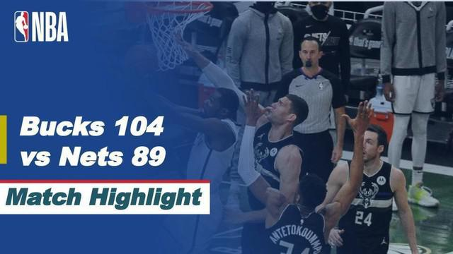 Berita video highlights game 6 semifinal wilayah timur NBA Playoffs 2021 antara Milwaukee Bucks melawan Brooklyn Nets yang berakhir dengan skor 104-89, Jumat (18/6/2021) pagi hari WIB.