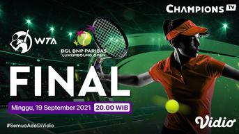 Link Live Streaming Grand Final WTA 250 BGL BNP Paribas Luxembourg Open di Vidio