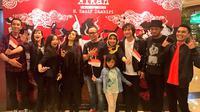 """Menaker menghadiri peluncuran single terbaru Kikan Namara yang berjudul """"Berkibarlah Indonesia""""  di Lounge XXI Plaza Senayan, Jakarta."""