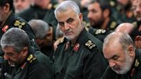 Komandan pasukan khusus Iran Mayor Jenderal Qassem Soleimani (AP)