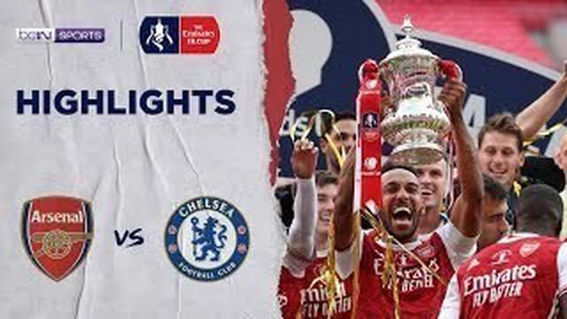 Berita Video Highlights Final Piala FA, Dua Gol Pierre-Emerick Aubameyang Bawa Arsenal Kalahkan Chelsea 2-1