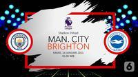 Manchester City vs Brighton & Hove Albion (Liputan6.com/Abdillah)