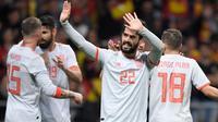 Isco mencetak hattrick ketika Spanyol menghadapi Argentina pada laga uji coba. (doc. SI)