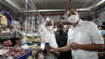 Mendag Uji Coba Penerapan Aplikasi PeduliLindungi di Pasar Rakyat