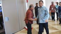 Menkominfo Rudiantara saat menghadiri Musyawarah Nasional Masyarakat Telematika Indonesia IX (Munas Mastel IX) di Jakarta. Liputan6.com/Tommy Kurnia