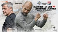 Manchester City vs Olympique Lyonnais (Liputan6.com/Abdillah)