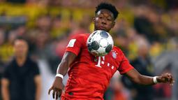 1. David Alaba (Bayern Munchen) - David Alaba salah satu pemain terbaik yang dimiliki Bayern Munchen pada kompetisi liga Jerman saat ini. Pemain berusia 28 tahun ini mampu bermain sebagai bek tengah, bek kiri dan juga gelandang bertahan. (AFP/Marius Becker/dpa)