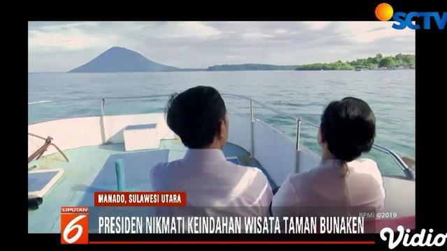 Presiden Jokowi berencana menata ulang kawasan Taman Nasional Bunaken.