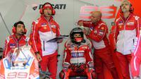 Bos Ducati, Gigi Dall'Igna, mengaku belum bisa memahami sepenuhnya kebutuhan Jorge Lorenzo. (EPA/EDDY LEMAISTRE)