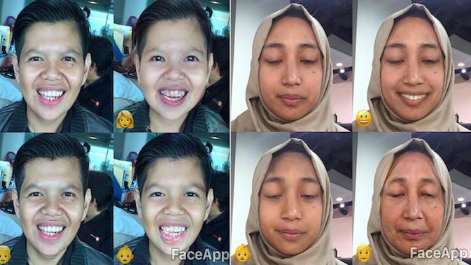 FaceApp, aplikasi edit foto yang konyol dan menggelitik. Liputan6.com/Jeko Iqbal Reza