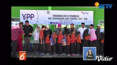 Yayasan Pundi Amal Peduli Kasih meresmikan gedung baru SDN 1 Penimbung, Lombok Barat, yang pembangunannya mendapatkan bantuan dari pemirsa SCTV dan Indosiar.