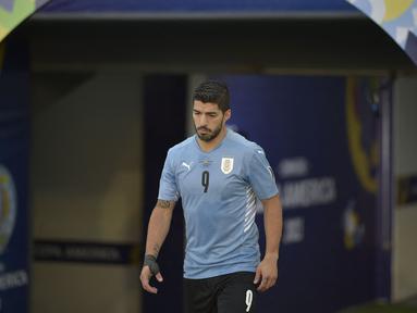 Meski tampil apik bersama klubnya, Athletico Madrid, Luis Suarez belum menunjukkan tajinya di Turnamen CONMEBOL Copa America 2021. Berikut ini daftar lima penyerang tertajam turnamen CONMEBOL Copa America 2021 yang didalamnya tak ada nama Luis Suarez. (Foto: AFP/Douglas Magno)