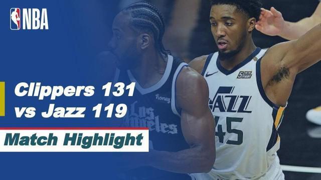 Berita video highlights game 6 semifinal wilayah barat NBA Playoffs 20221, LA Clippers menang 131-119 atas Utah Jazz, Sabtu (19/6/2021) pagi hari WIB.
