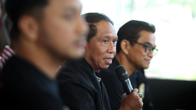 Menpora Zainudin Amali saat jumpa pers Piala Presiden Esports 2020, Minggu (3/2/2020).