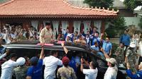 Capres nomor urt 02 Prabowo Subianto di Banten. (Liputan6.com/ Yandhi Deslatama)