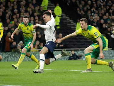 Tottenham Hotspur Susah Payah Taklukkan Norwich City