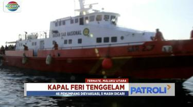 Tim SAR Maluku Utara terus melakukan koordinasi untuk melakukan pencarian terhadap 24 penumpang dan 18 Abk yang tenggelam.