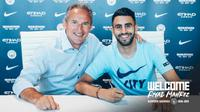 Riyad Mahrez resmi menjadi milik Manchester City pada Selasa (10/7/2018). (dok. Manchester City)