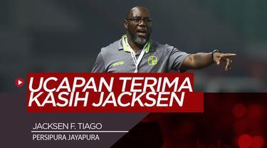 Berita Video ucapan terima kasih pelatih persipura, Jacksen F.Tiago atas 25 Tahun kariernya di Indonesia.