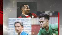 Andik Vermansah, Ferinando Pahabol dan Kim Jeffrey Kurniawan. (Bola.com/Dody Iryawan)