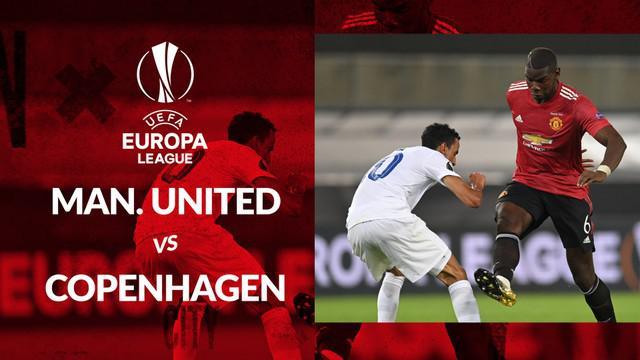 Berita motion grafis statistik Manchester United vs Copenhagen pada perempat final Liga Europa 2019-2020, Selasa (11/8/2020).