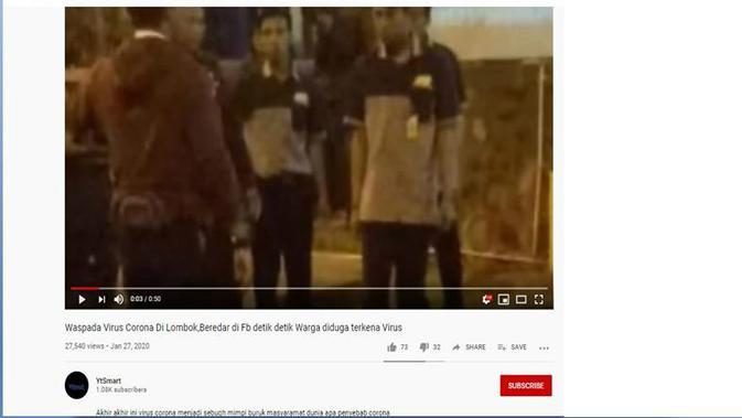 Cek Fakta: Pria Pingsan Mendadak di Depan Lombok Epicentrum Mall Karena Corona, Faktanya?
