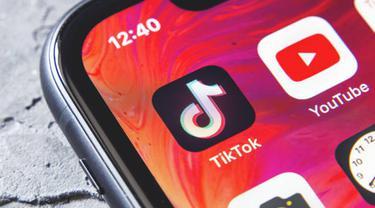 ilustsrasi aplikasi TikTok. (iStockphoto)