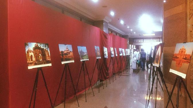 Pameran foto warisan Islam bersama India dan Indonesia di Gedung PBNU, Jakarta (Liputan6.com/Siti Khotimah)