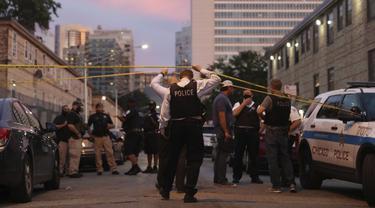 Aksi rusuh dan penjarahan terjadi di Chicago, Amerika Serikat pada dini hari Senin, 10 Agustus 2020.