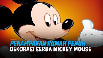 VIDEO: Penampakan Rumah Penuh Dekorasi Serba Mickey Mouse