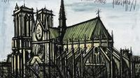 Lukisan Gereja Katedral Notre Dame (Dok.Instagram/@anggun_cipta/https://www.instagram.com/p/BwTtuJGAHxb/Komarudin)