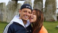 Javier Hernandez dan kekasih barunya, Sarah Kohan. (Instagram Sarah Kohan)