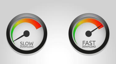 ilustrasi kecepatan download internet