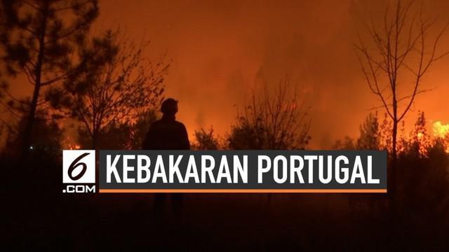 Sebuah kebakaran besar terjadi di Portugal. Untuk memadamkan api, belasan pesawat dan ribuan petugas pemadam dikerahkan.